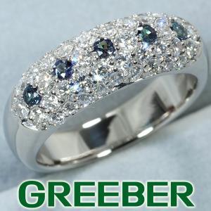 アレキサンドライト 0.16ct ダイヤ ダイヤモンド 0.95ct パヴェ リング 指輪 Pt900/プラチナ 鑑別書 GENJ|greeber01