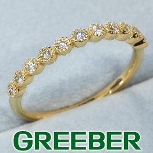 ダイヤ ダイヤモンド 0.10ct リング 指輪  K18YG GENJ 特別値下げ品|greeber01