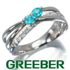 ダイヤ ダイヤモンド 0.22ct パライバトルマリン 0.15ct リング 指輪 Pt900/プラチナ GENJ|greeber01