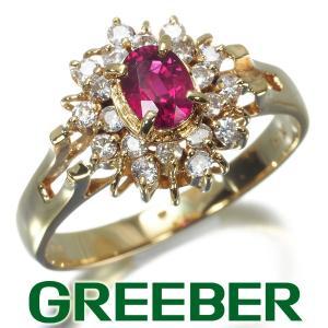 ルビー 0.43ct ダイヤ ダイヤモンド 0.24ct リング 指輪 K18YG GENJ|greeber01