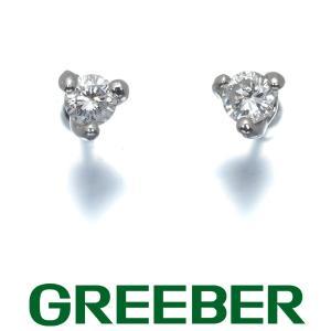 ダイヤ ダイヤモンド 0.07ct/0.07ct 一粒 ピアス Pt850/プラチナ GENJ greeber01
