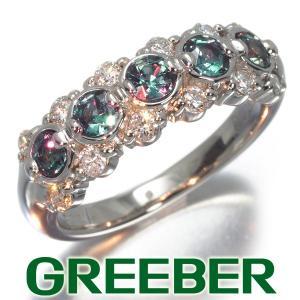 アレキサンドライト 0.60ct ダイヤ ダイヤモンド 0.35ct リング 指輪 Pt900/プラチナ 鑑別書 GENJ|greeber01