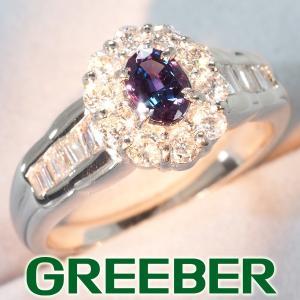 アレキサンドライト 0.329ct ダイヤ ダイヤモンド 0.50ct リング 指輪 Pt900/プラチナ GENJ|greeber01