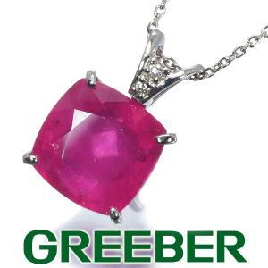 ルビー 5.517ct ダイヤ ダイヤモンド ネックレス Pt900/Pt850/プラチナ GENJ|greeber01