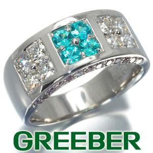 パライバトルマリン 0.26ct クリア&ピンクダイヤ ダイヤモンド 0.93ct リング 指輪 Pt900/プラチナ ソーティング GENJ|greeber01