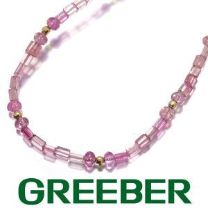 ピンクトルマリン ネックレス K18YG GENJ|greeber01