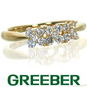 ダイヤ ダイヤモンド 0.24ct リング 指輪 フラワー K18YG GENJ|greeber01