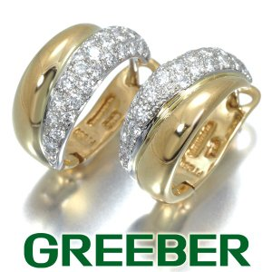 ティファニー ピアス パヴェ ダイヤ ダイヤモンド フープ Pt950/プラチナ/K18YG BLJ|greeber01