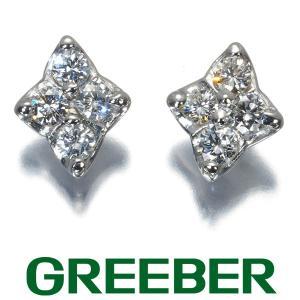 ダイヤ ダイヤモンド 0.25ct/0.25ct ピアス Pt900/プラチナ GENJ greeber01