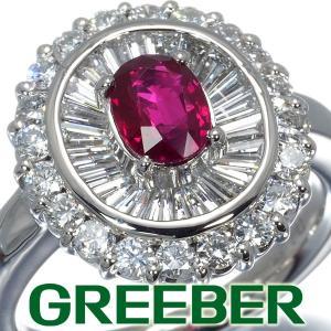 ルビー 0.78ct ダイヤ ダイヤモンド 1.27ct 2種カット リング 指輪 Pt900/プラチナ ソーティング GENJ|greeber01