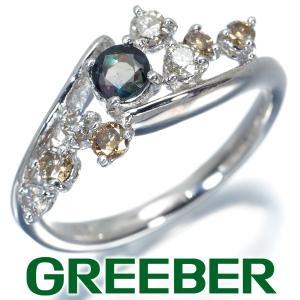 アレキサンドライト 0.30ct ダイヤ ダイヤモンド 0.50ct リング 指輪 K18WG ソーティング GENJ|greeber01