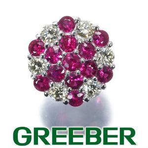 ルビー ダイヤ ダイヤモンド ペンダントトップ K18WG GENJ|greeber01