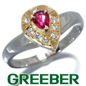 TASAKI タサキ リング 指輪 ルビー 0.36ct ダイヤ ダイヤモンド 0.14ct 15号 K18YG/Pt900/プラチナ BLJ/GENJ|greeber01