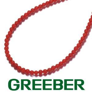 珊瑚 サンゴ ネックレス K18WG ソーティング GENJ|greeber01