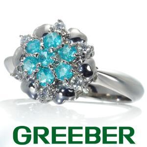パライバトルマリン ダイヤ ダイヤモンド 0.12ct リング 指輪 Pt900/プラチナ ソーティング GENJ|greeber01