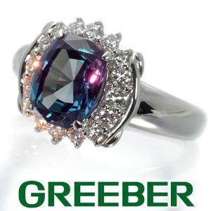 クレサンベール リング 指輪 再結晶アレキサンドライト 2.31ct ダイヤ ダイヤモンド 0.46ct 京セラ 14号 Pt950/プラチナ BLJ/GENJ|greeber01