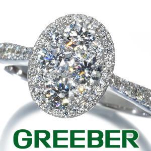豪華 ダイヤ ダイヤモンド 1ct オーバルデザイン リング 指輪 K18WG GENJ greeber01