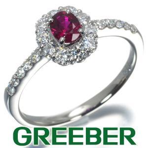 ビルマ産 ピジョンブラッド ルビー 0.33ct ダイヤ ダイヤモンド 0.40ct リング 指輪 Pt900/プラチナ 鑑別書 GENJ|greeber01