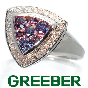 アレキサンドライト 0.80ct ダイヤ ダイヤモンド 0.20ct リング 指輪 トリリアントデザイン Pt900/プラチナ GENJ|greeber01