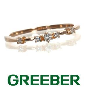 アガット ピンキーリング 指輪 ダイヤ ダイヤモンド 0.052ct K18PG 箱 BLJ/GENJ|greeber01