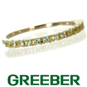 ヴァンドーム リング 指輪 ペリドット ハーフエタニティ 11号 K18YG BLJ/GENJ|greeber01