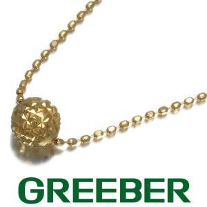 カットボール デザイン ネックレス K18YG GENJ greeber01