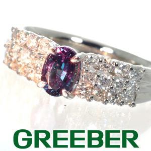アレキサンドライト 0.55ct ダイヤ ダイヤモンド 0.58ct リング 指輪 Pt900/プラチナ ソーティング GENJ|greeber01