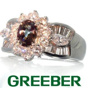 アレキサンドライト 0.755ct ダイヤ ダイヤモンド 1.15ct リング 指輪 Pt900/プラチナ ソーティング GENJ|greeber01