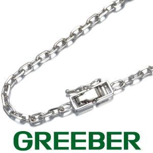 デザインチェーン ネックレス 50cm K18WG GENJ greeber01