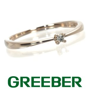 アガット リング 指輪 ダイヤ ダイヤモンド ピンキー 5号 K10PG BLJ/GENJ|greeber01