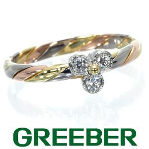 木内賢治 リング 指輪 ダイヤ ダイヤモンド 0.10ct スリーカラー 12号 K18YG/PG/Pt900/プラチナ BLJ|greeber01