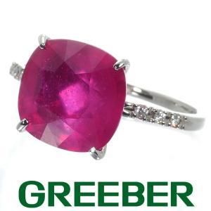 ルビー 6.435ct ダイヤ ダイヤモンド 0.06ct リング 指輪 Pt900/プラチナ GENJ|greeber01