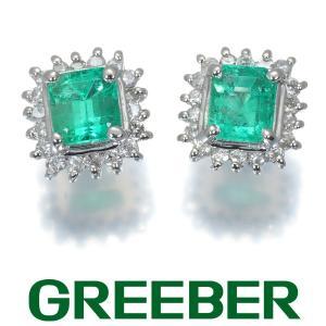 エメラルド ダイヤ ダイヤモンド 0.10ct/0.10ct ピアス Pt900/プラチナ GENJ|greeber01