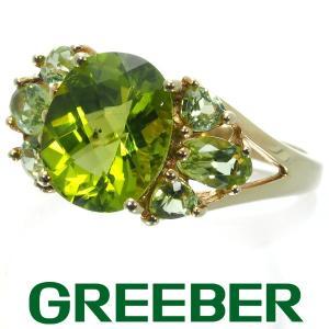 ペリドット リング 指輪 K10YG GENJ|greeber01