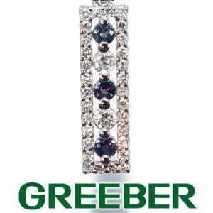 アレキサンドライト 0.23ct ダイヤ ダイヤモンド 0.32ct ネックレス Pt900/Pt850/プラチナ GENJ greeber01