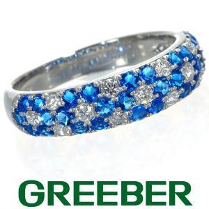アウイナイト 0.60ct ダイヤ ダイヤモンド 0.28ct パヴェ フラワー リング 指輪 Pt950/プラチナ GENJ|greeber01
