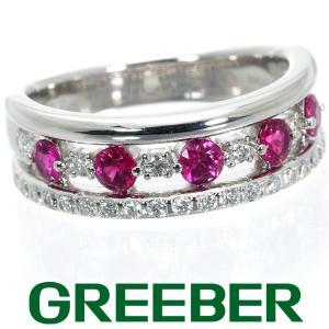 三越 リング 指輪 ルビー 0.66ct ダイヤ ダイヤモンド 0.35ct Pt900/プラチナ BLJ/GENJ|greeber01