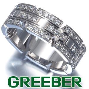 カルティエ リング 指輪 ダイヤ ダイヤモンド タンクフランセーズ 50号 K18WG BLJ 大幅値下げ品|greeber01