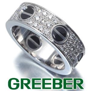 カルティエ リング 指輪 ダイヤ ダイヤモンド ラブ フルパヴェ ブラック 52号 K18WG/セラミック BLJ 特別値下げ品|greeber01