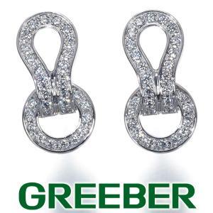カルティエ ピアス ダイヤ ダイヤモンド アグラフ K18WG 箱 BLJ 特別値下げ品|greeber01