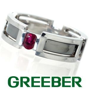 ジャムケリー リング 指輪 ビルマ産ルビー 0.32ct 18号 K10WG/ブラックコーティング 鑑別書 BLJ/GENJ|greeber01