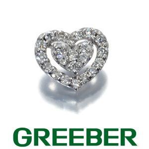 ポンテヴェキオ ピアス ダイヤ ダイヤモンド 0.20ct ハート 片耳 K18WG BLJ|greeber01