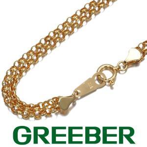 デザインチェーン ネックレス 60cm K18YG GENJ greeber01