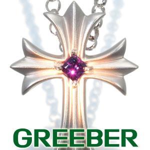 アレキサンドライト 0.197ct クロス ネックレス K18WG GENJ|greeber01