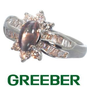 アレキサンドライトキャッツアイ 1.119ct ダイヤ ダイヤモンド 0.62ct リング 指輪 Pt900/プラチナ GENJ|greeber01