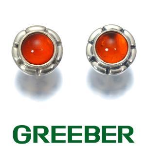 ジョージジェンセン ピアス 琥珀 アンバー 2001 SV925 BLJ|greeber01