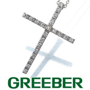 スタージュエリー ネックレス ダイヤ ダイヤモンド 0.20ct クロス K18WG BLJ/GENJ greeber01