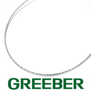 オメガチェーン ネックレス 45cm K18WG GENJ greeber01