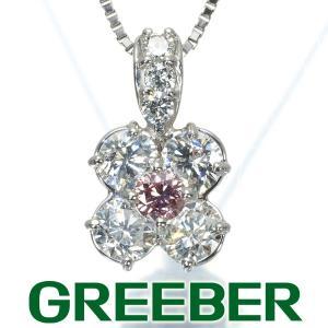 FANCY ORANGY PINK  ピンクダイヤ ダイヤモンド 0.107ct/0.91ct ネックレス ソーティング GENJ greeber01