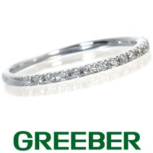 スタージュエリー リング 指輪 ダイヤ ダイヤモンド ハーフエタニティ 10号 K18WG BLJ/GENJ|greeber01